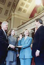 Official ceremony in assumption of office for first mandate as senator of Hillary Clinton, 3th January, 2001.