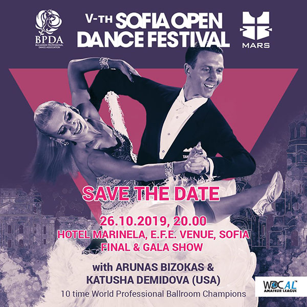 WORLD CHAMPIONS & STAR JURY ARRIVE FOR SOFIA OPEN DANCE FESTIVAL