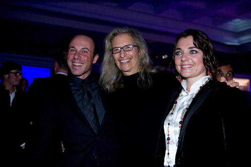 Luigi Lavazza, Annie Leibovitz and Francesca Lavazza